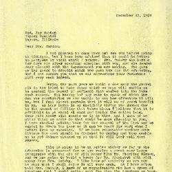 1939/12/22: C. E. Godshalk to Mrs. Joy (Margaret) Morton