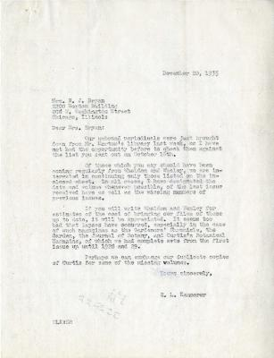 1935/12/20: E. L. Kammerer to Norma J. Bryan