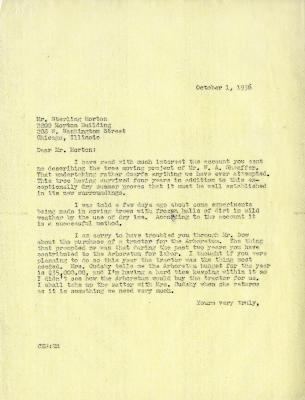 1936/10/01: C. E. Godshalk to Sterling Morton