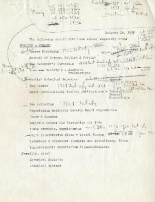 """1935/10/16: List of periodicals from """"Wheldon and Wesley"""""""