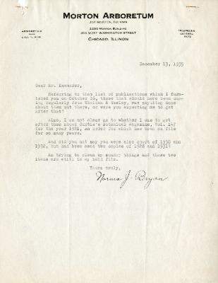 1935/12/13: Norma J. Bryan to E. L. Kammerer