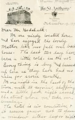 1939/12/13: Mabel Barnet to Clarence Godshalk