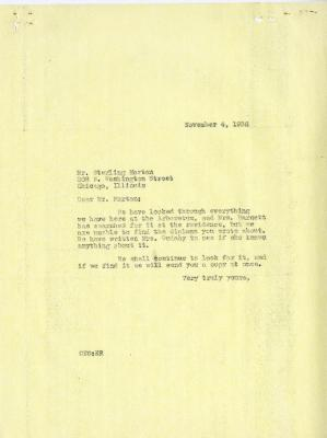 1936/11/04: C. E. Godshalk to Sterling Morton