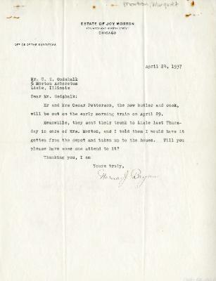 1937/04/24: Norma J. Bryan to C.E. Godshalk
