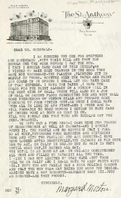 12/31/1938: Margaret Morton to Clarence Godshalk