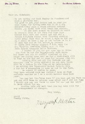 1937/04/25: Margaret Morton to C.E. Godshalk