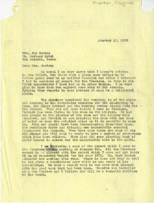 1939/01/10: C. E. Godshalk to Mrs. Joy (Margaret) Morton