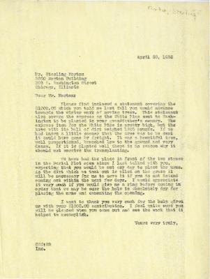 1936/04/20: C. E Godshalk to Sterling Morton