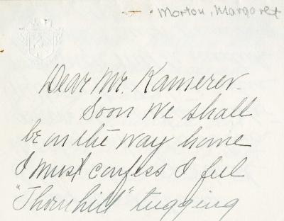 1937/03/29: Margaret Morton to E. Lowell Kammerer
