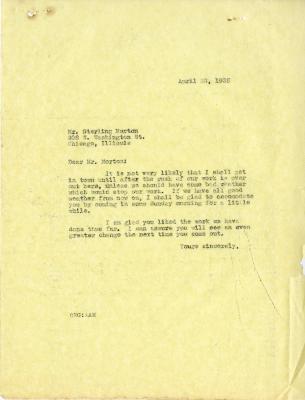 1935/04/22: C. E. Godshalk to Sterling Morton
