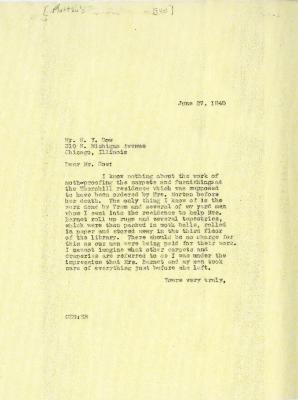 1940/06/27: C. E. Godshalk to W. Y. Dow