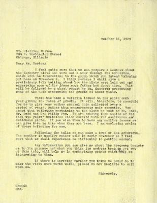 1939/10/11: C. E. Godshalk to Sterling Morton