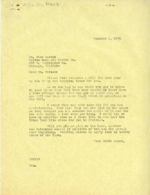 1935/10/01: C. E. Godshalk to Mark Morton