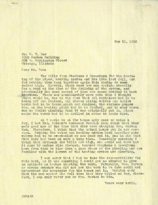 1936/05/13: C. E. Godshalk to W. Y Dow