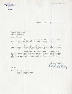 1940/02/16: Mark Morton to C. E. Godshalk