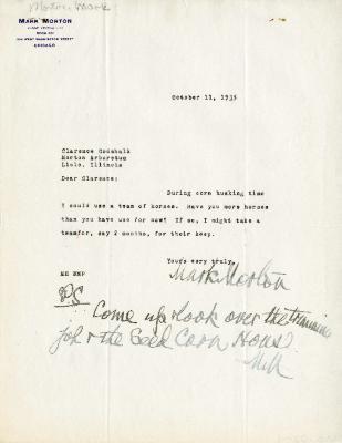 1935/10/15: Mark Morton to Clarence Godshalk