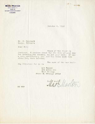 1935/10/04: Mark Morton to C. E. Godshalk