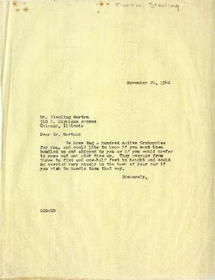 1942/11/24: Clarence E. Godshalk to Sterling Morton