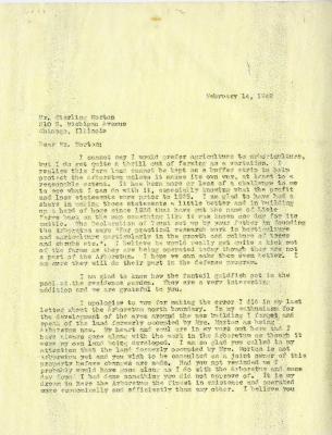 1942/02/14: Clarence E. Godshalk to Sterling Morton