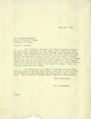 1942/07/16: E. L. Kammerer to Sterling Morton