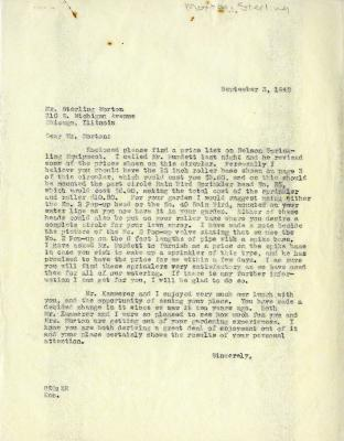 1942/09/03: Clarence E. Godshalk to Sterling Morton