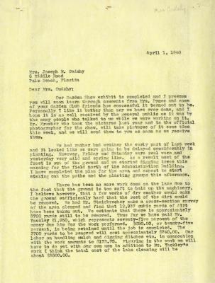1940/04/01: Clarence E. Godshalk to Jean M. Cudahy