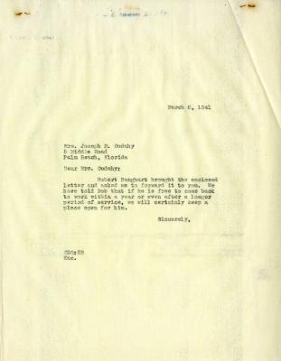 1941/03/06: Clarence E. Godshalk to Jean M. Cudahy