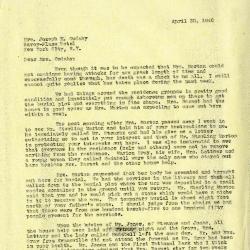 1940/04/30: Clarence E. Godshalk to Jean M. Cudahy