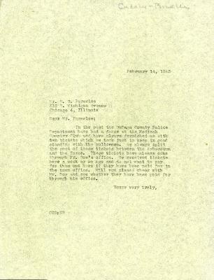 1945/02/14: C. E. Godshalk to D. S. Parmelee