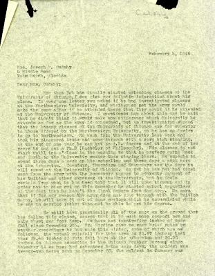 1945/02/05: Clarence Godshalk to Jean M. Cudahy