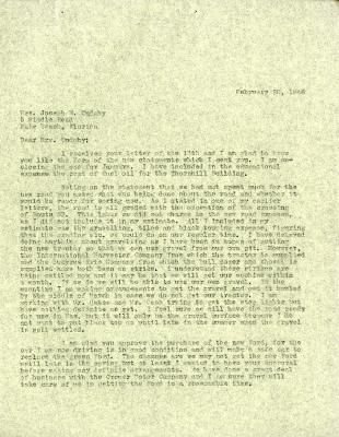 1946/02/20: Clarence Godshalk to Jean Cudahy