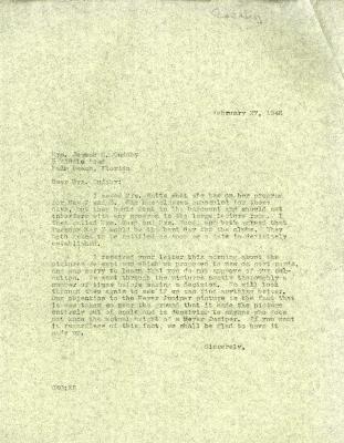1946/02/27: C. E. Godshalk to Jean Cudahy