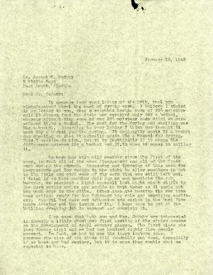 1946/01/12: Clarence E. Godshalk to Joseph M. Cudahy