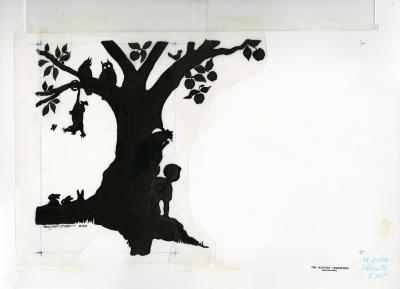Tree, child and animal silhouettes [graphic]   circus tents / Nancy Hart Stieber.