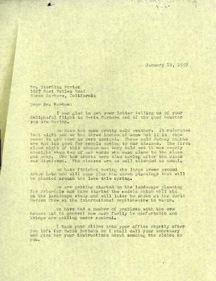 1959/01/19: C. E. Godshalk to Sterling Morton