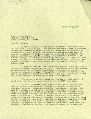 1960/02/08: C. E. Godshalk to Sterling Morton