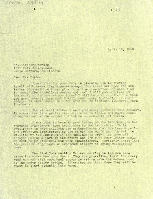 1960/04/11: C. E. Godshalk to Sterling Morton