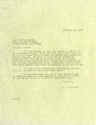 1960/02/26: C. E. Godshalk to Sterling Morton