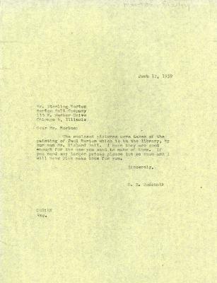 1959/06/12: C. E. Godshalk to Sterling Morton