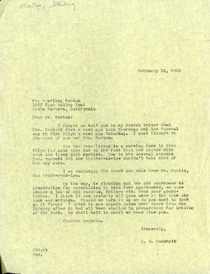 1960/02/10: C. E. Godshalk to Sterling Morton