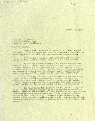 1960/08/30: C. E. Godshalk to Sterling Morton