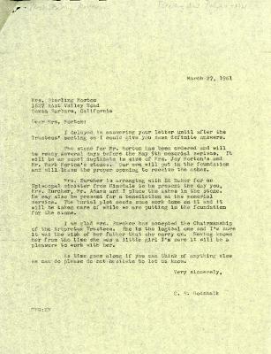 1961/03/27: C. E. Godshalk to Mrs. Sterling Morton