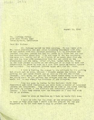 1960/08/11: C. E. Godshalk to Sterling Morton