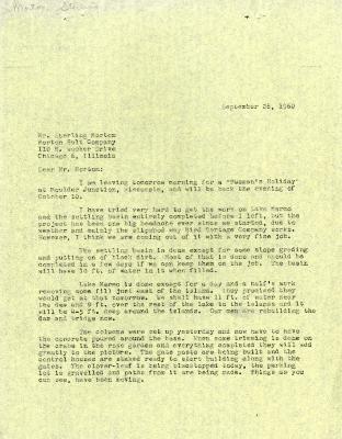 1960/09/28: C. E. Godshalk to Sterling Morton