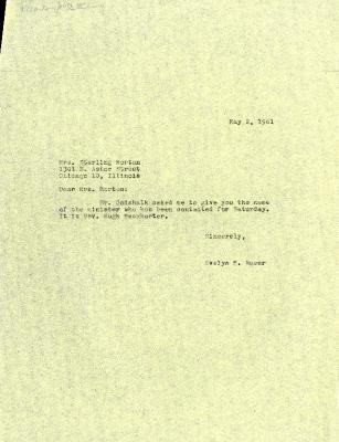 1961/05/02: Evelyn Naser to Mrs. Sterling Morton