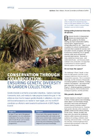 Conservation Through Collaboration: Ensuring Genetic Diversity in Garden Collections