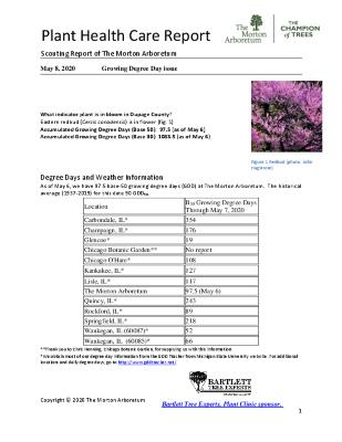 Plant Health Care Report: 2020, May 8 Growing Degree Day Issue