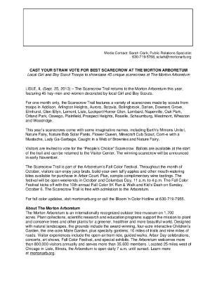 Scarecrow Trail Press Release