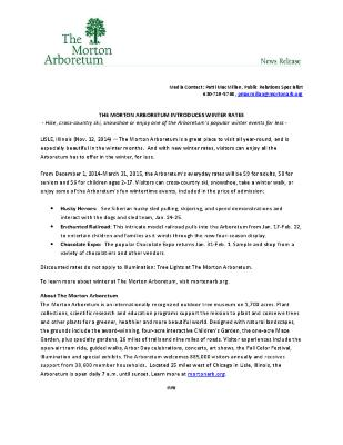 New Winter Rates Press Release