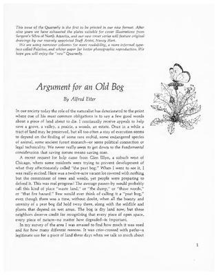 Argument for an Old Bog